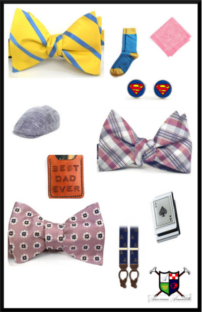 Give more than one accessory to help him complete the look.
