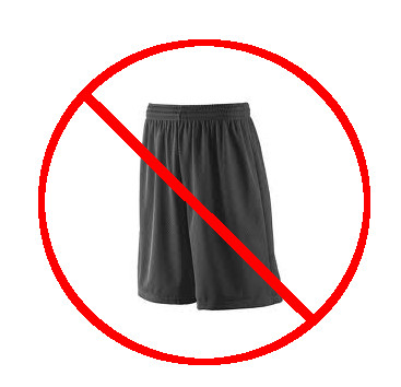 Basketball shorts are not swimwear.