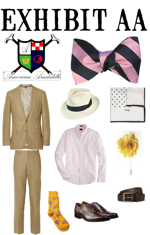 Exhibit AA puts together the best look to complement your American Armadillo bow tie collection.
